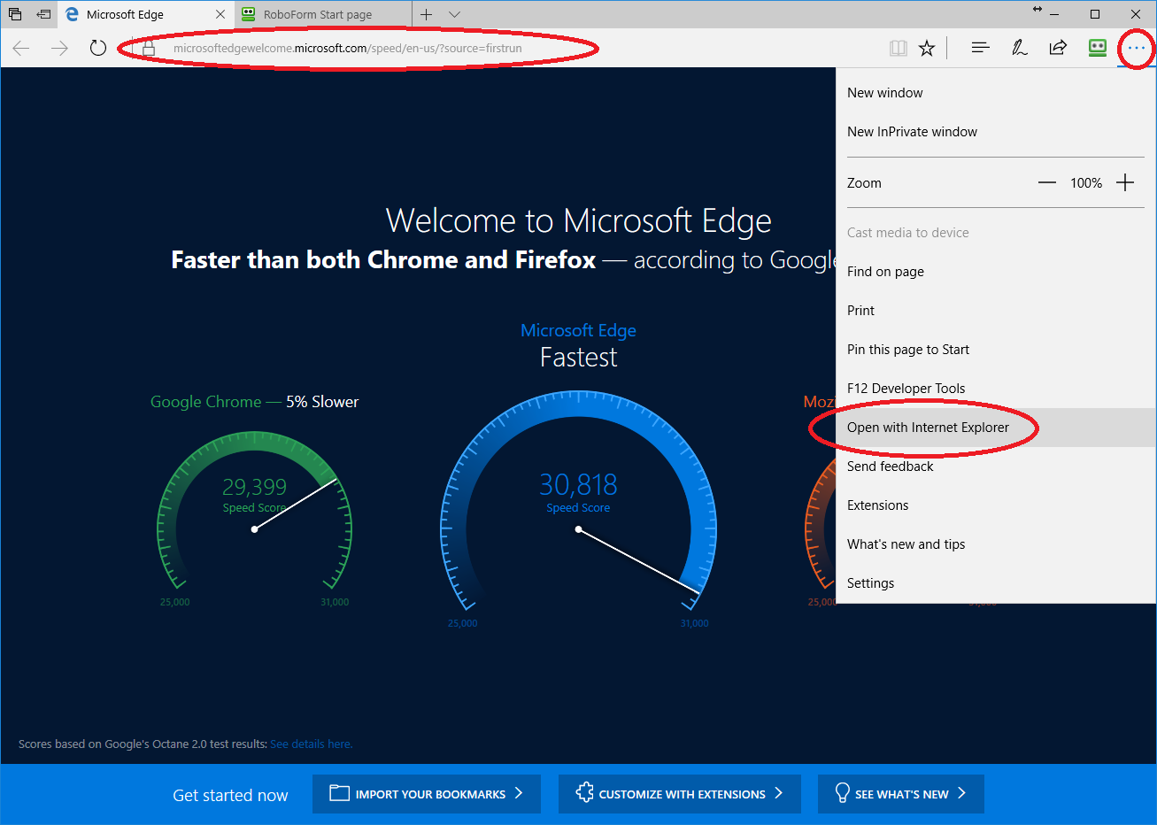 How to access Internet Explorer through Edge – RoboForm