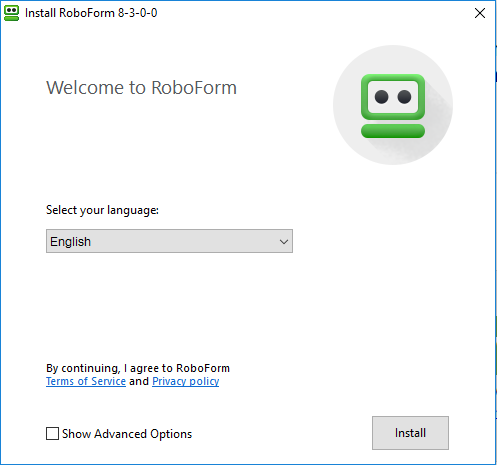roboform vista