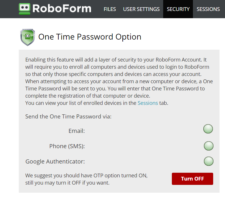 Enabling Two Factor Authentication (2FA) for your account