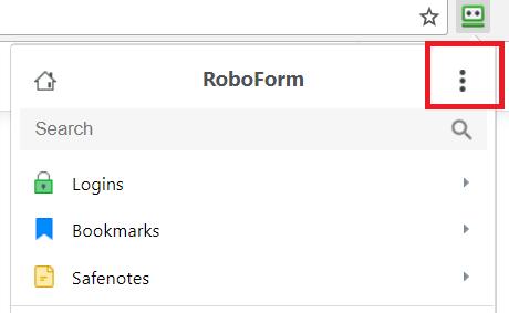 Enabling the RoboForm lower toolbar (Chrome, Edge, and
